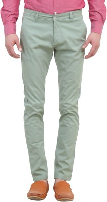 Colors Couture Slim Fit Men's Green Trousers