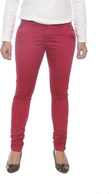 Spykar Slim Fit Women's Red Trousers