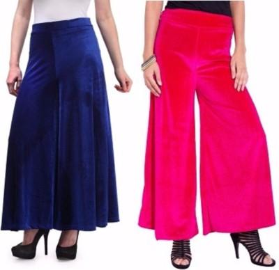 Viba London Regular Fit Women's Blue, Pink Trousers