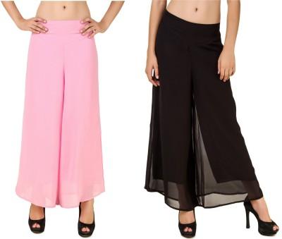 RoseBella Regular Fit Women's Pink, Black Trousers