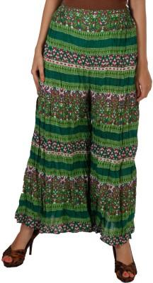 Vedic Regular Fit Women's Green Trousers