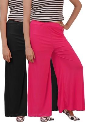 Ace Regular Fit Women's Pink, Black Trousers