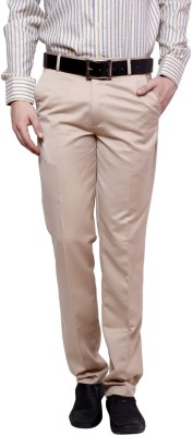 Zaab Slim Fit Men,s Brown Trousers