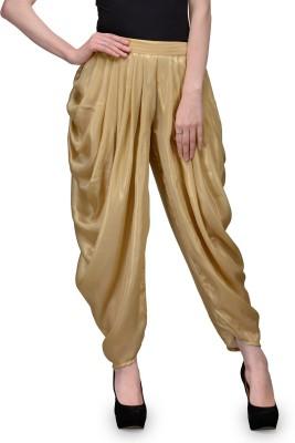 Natty India Regular Fit Women's Gold Trousers