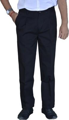 Studio Nexx Regular Fit Men's Black Trousers
