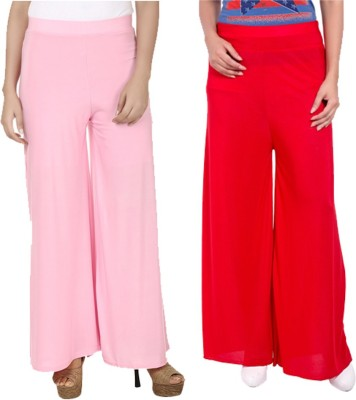 Komal Trading Co Regular Fit Women's Pink, Red Trousers