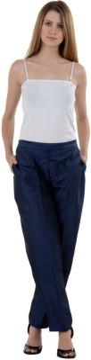 NumBrave Regular Fit Women's Blue Trousers