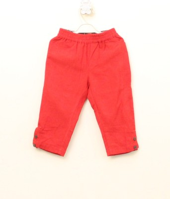 My Little Lambs Regular Fit Baby Girl's Red Trousers
