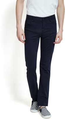 Offline Slim Fit Men,s Dark Blue Trousers