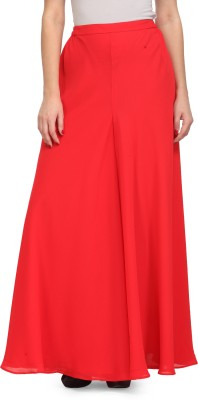 Just Wow Regular Fit Women's Red Trousers
