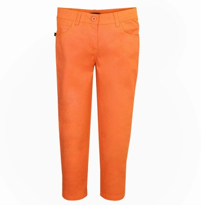 Bells and Whistles Regular Fit Girl's Orange Trousers
