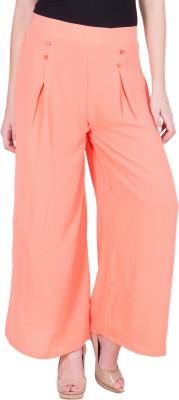 Purple Feather Regular Fit Women's Orange Trousers
