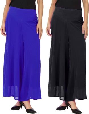 Magrace Regular Fit Women's Black, Blue Trousers