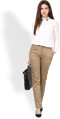Martini Slim Fit Women's Beige Trousers