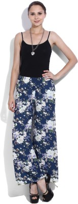 Van Heusen Regular Fit Womens White, Blue Trousers