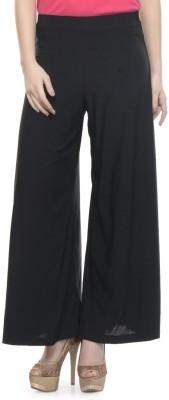 Mayra Regular Fit Women's Black Trousers