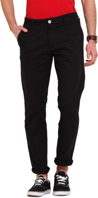 Ennoble Slim Fit Men's Black Trousers