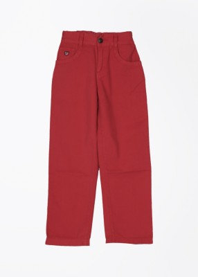 U.S. Polo Assn. Slim Fit Boy's Red Trousers