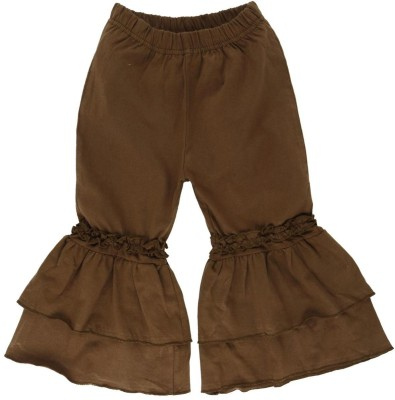 Oye Regular Fit Girl's Brown Trousers