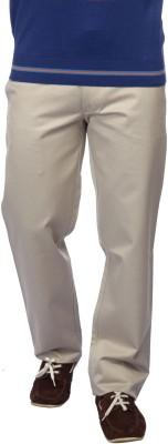 Color Plus Slim Fit Men's Grey Trousers