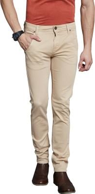 Route 66 Slim Fit Men's Cream Trousers