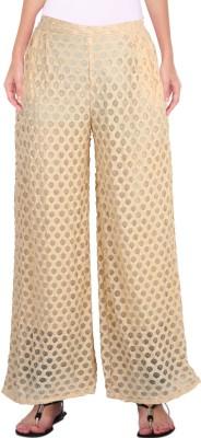 Casam Regular Fit Women's Cream Trousers
