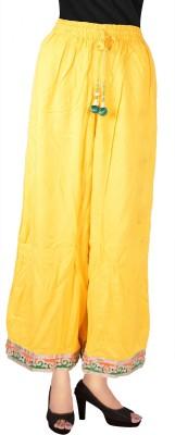 Decot Paradise Regular Fit Women's Yellow Trousers