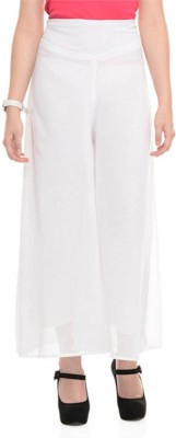 Fashion Arcade Regular Fit Women's White Trousers
