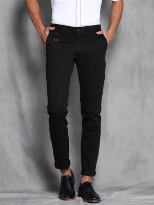 WROGN Slim Fit Men's Black Trousers