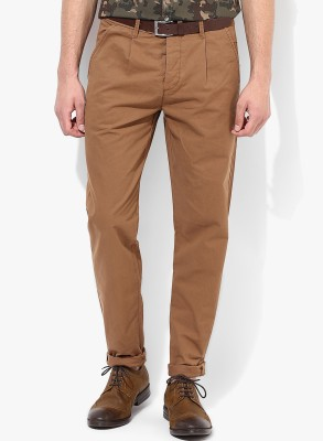 Jack & Jones Regular Fit Men's Brown Trousers