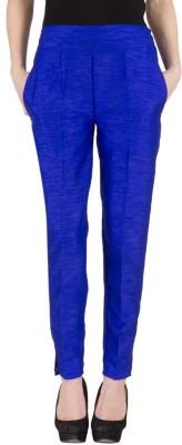 A A Store Regular Fit Women's Blue Trousers
