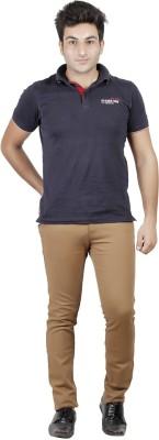 MINDITDADDY Slim Fit Men's Brown Trousers