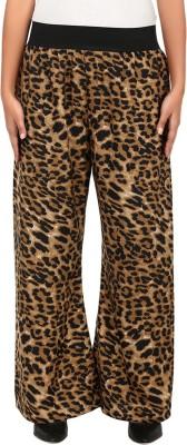 Natty India Regular Fit Women's Black, Brown Trousers