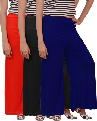 Ace Regular Fit Women's Black, Red, Blue Trousers