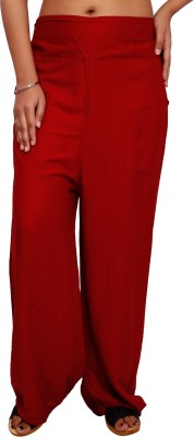 Fine Colors Regular Fit Women's Red Trousers