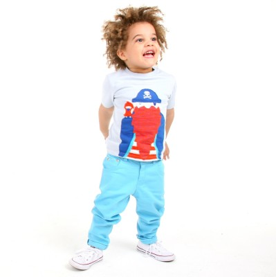 Cherry Crumble California Slim Fit Boy's Blue Trousers