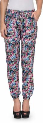Kiosha Slim Fit Women's Blue, Pink Trousers