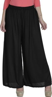 Shopping Villa Regular Fit Women's Black Trousers