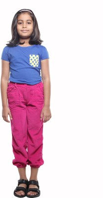 KARROT by Shoppers Stop Regular Fit Girl's Pink Trousers