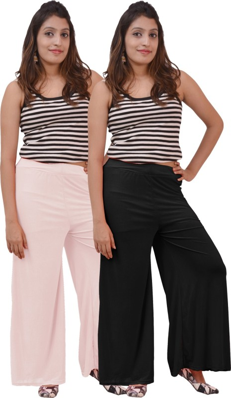 Carrol Regular Fit Women's Black, White Trousers