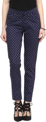 Sakhi Sang Slim Fit Women's Blue Trousers