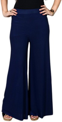 fashionmandi Regular Fit Women's Blue Trousers