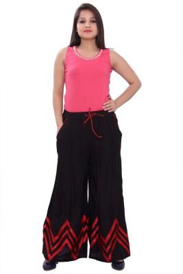 A&K Regular Fit Women's Black Trousers