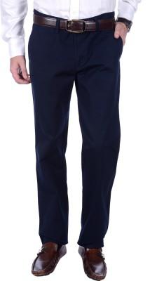 FRANK JEFFERSON Regular Fit Men's Dark Blue Trousers