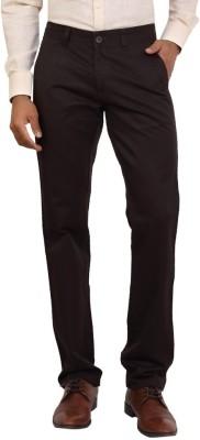 Bottoms Slim Fit Men's Brown Trousers