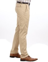 Parx Slim Fit Mens Green Trousers