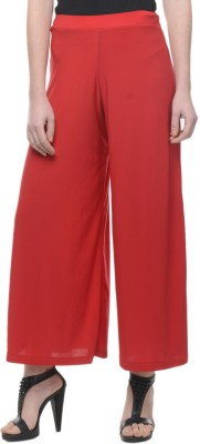 Mayra Regular Fit Women's Red Trousers