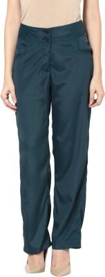 Kaxiaa Regular Fit Women's Green Trousers
