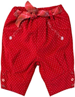Mom & Me Regular Fit Girl's Red Trousers