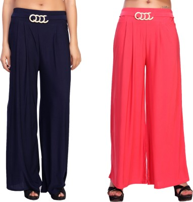 Comix Regular Fit Womens Blue, Red Trousers